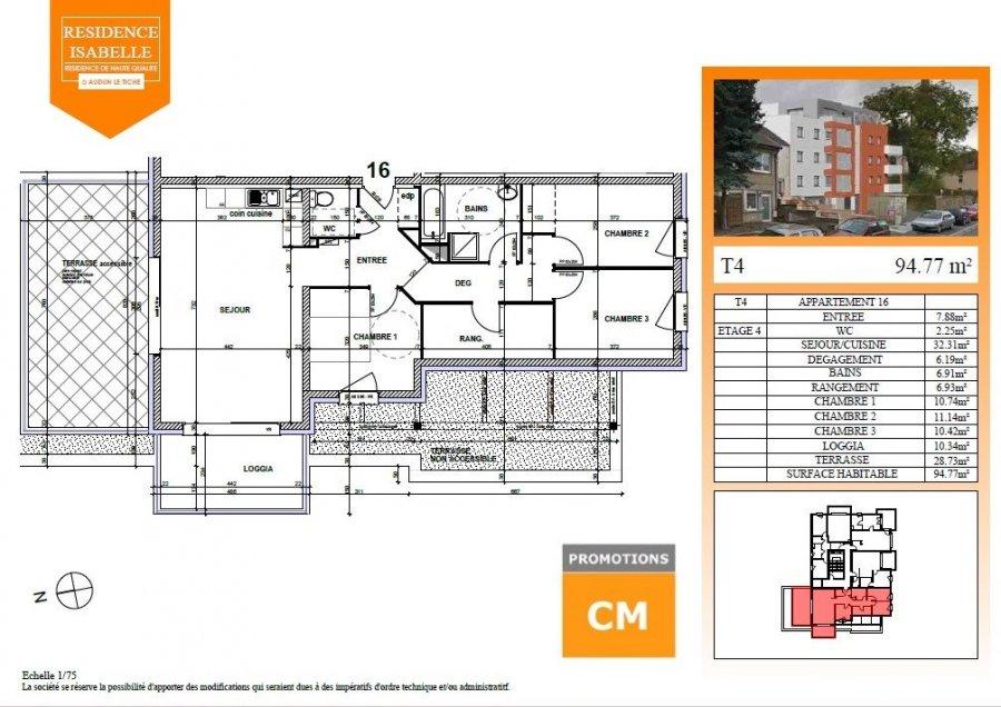 acheter appartement 4 pièces 94.77 m² audun-le-tiche photo 2