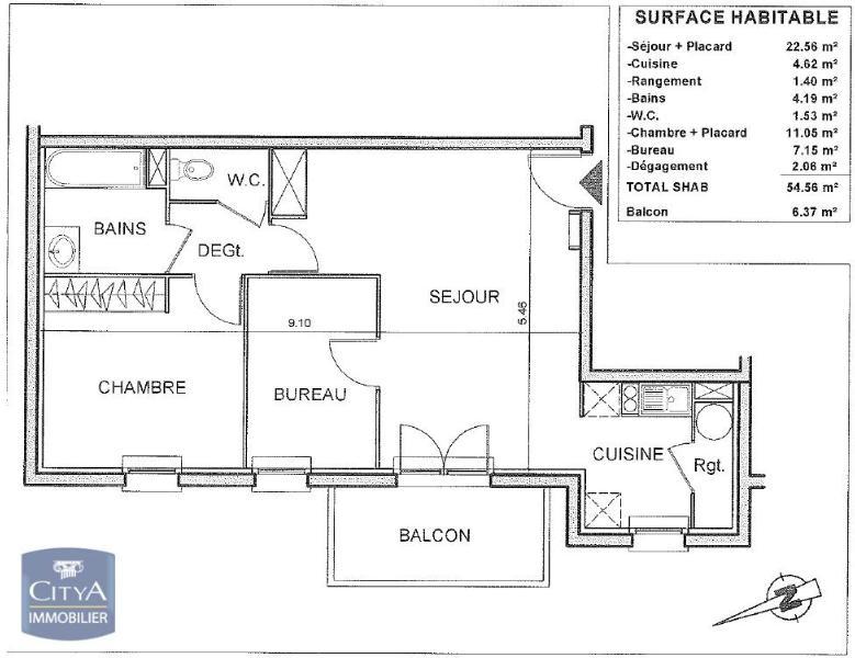 louer appartement 2 pièces 54 m² verdun photo 7