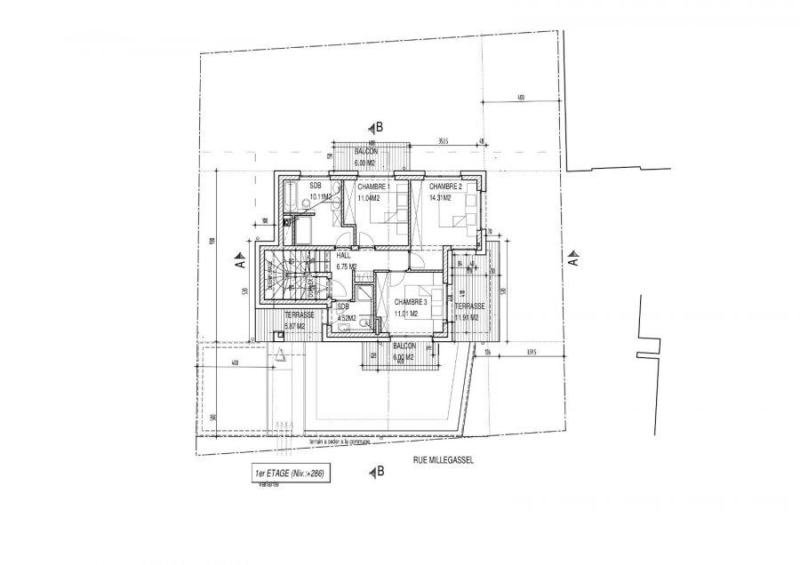 Penthouse à vendre 3 chambres à Luxembourg-Muhlenbach