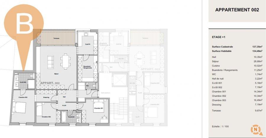 acheter appartement 3 chambres 134.49 m² peppange photo 2