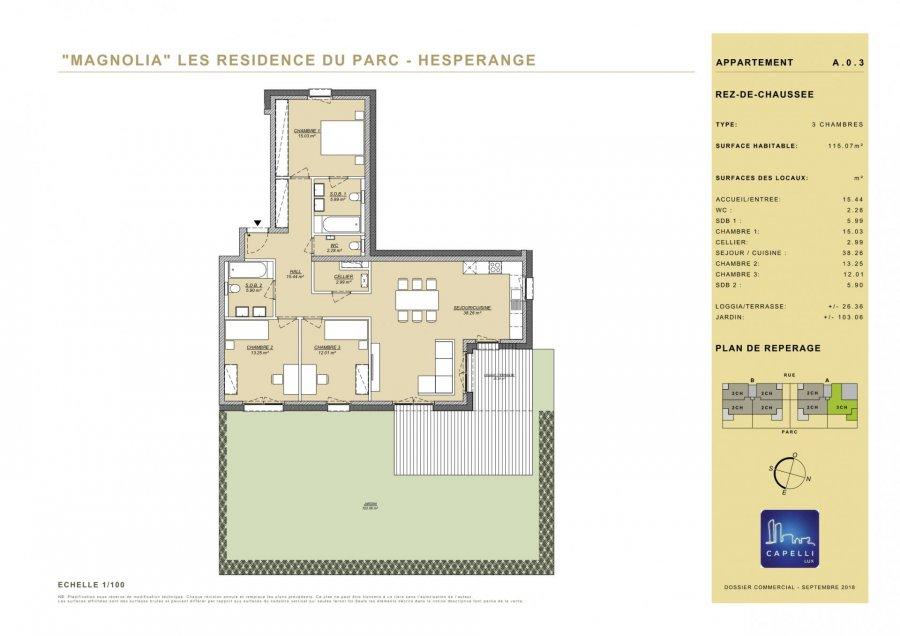 acheter appartement 3 chambres 115.07 m² hesperange photo 2
