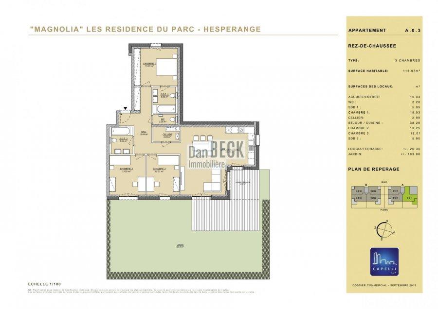 apartment for buy 3 bedrooms 115.07 m² hesperange photo 2