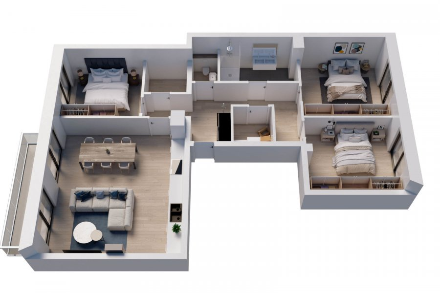 acheter appartement 3 chambres 110 m² wemperhardt photo 4