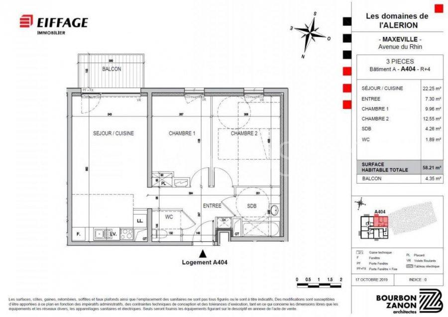 Appartement à vendre F3 à Maxéville