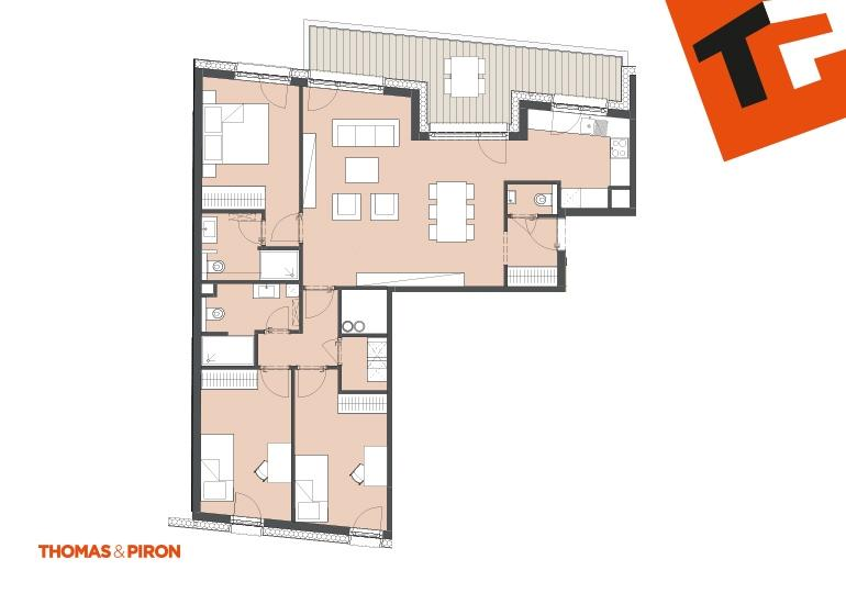 apartment for buy 3 bedrooms 100.34 m² schifflange photo 3