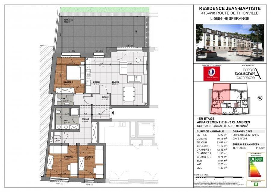wohnung kaufen 3 schlafzimmer 113.38 m² hesperange foto 3