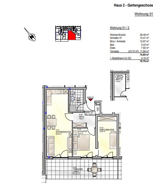 wohnung kaufen 0 zimmer 74.69 m² palzem foto 4