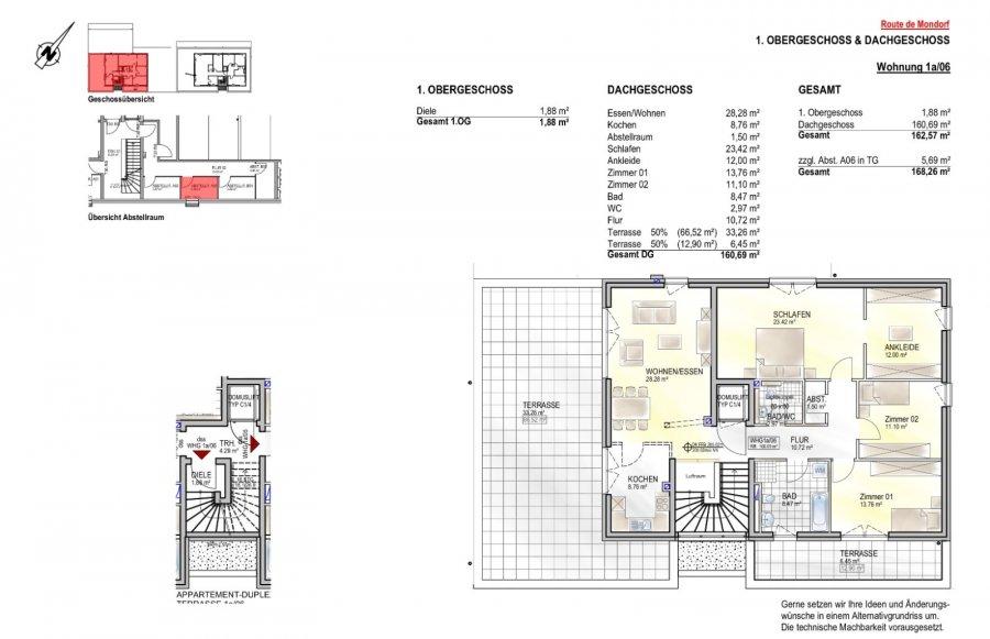 penthouse-wohnung kaufen 3 schlafzimmer 162.57 m² remich foto 2