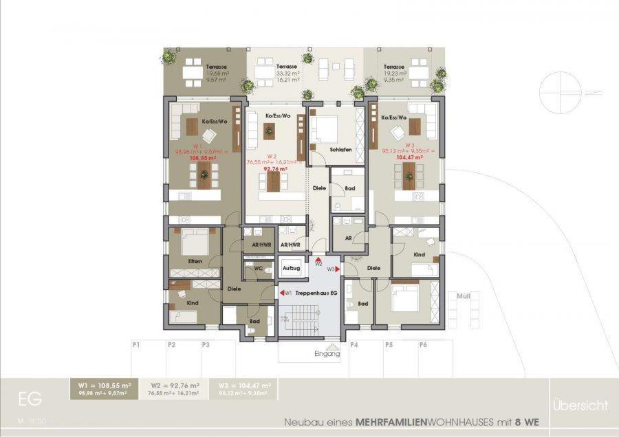 wohnung kaufen 3 zimmer 110.16 m² tawern foto 3