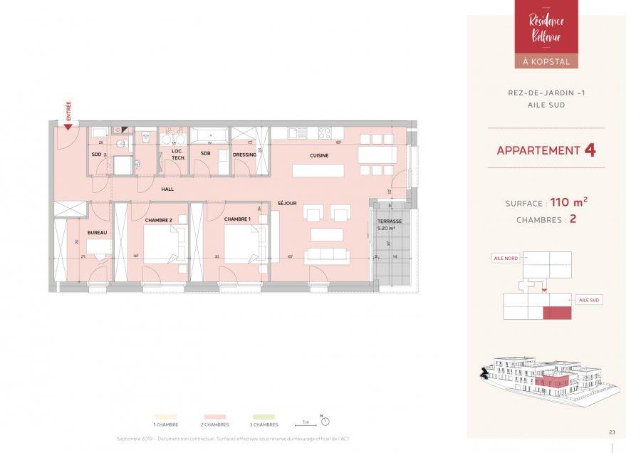 acheter appartement 2 chambres 110 m² kopstal photo 2