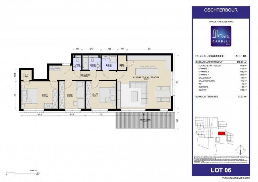 acheter appartement 3 chambres 106.76 m² differdange photo 3
