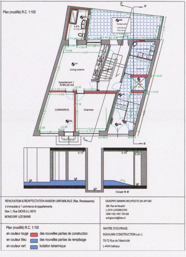 acheter local commercial 0 chambre 73 m² mondorf-les-bains photo 1
