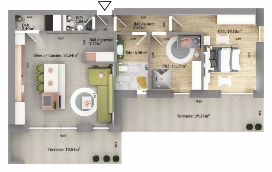 acheter appartement 2 chambres 84.68 m² eselborn photo 3