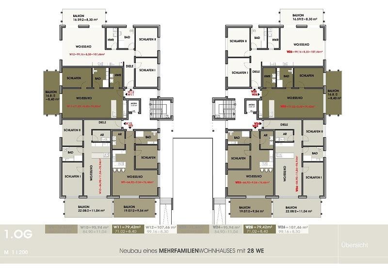 wohnung mieten 3 zimmer 95.94 m² perl foto 3