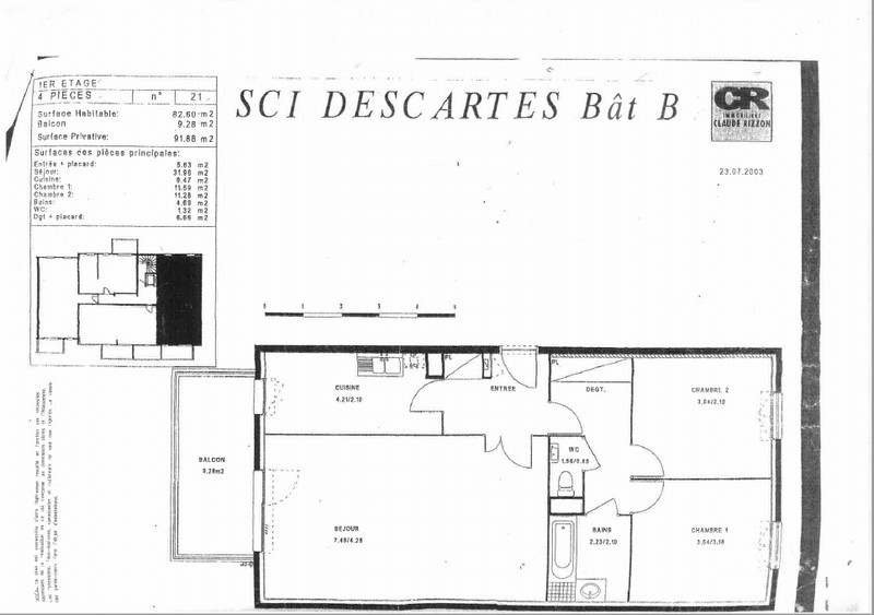 acheter appartement 3 pièces 82 m² metz photo 2