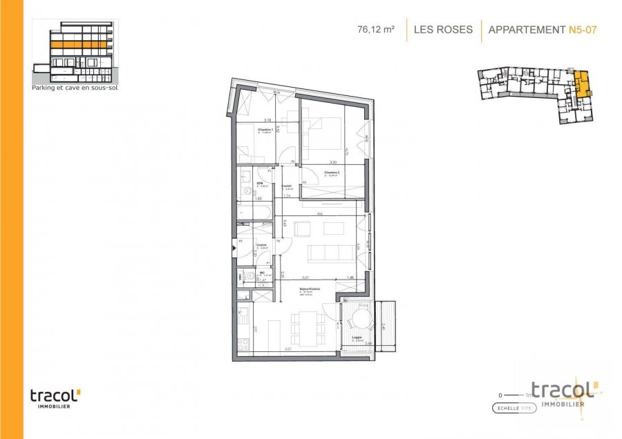 acheter appartement 2 chambres 76.12 m² niederkorn photo 2