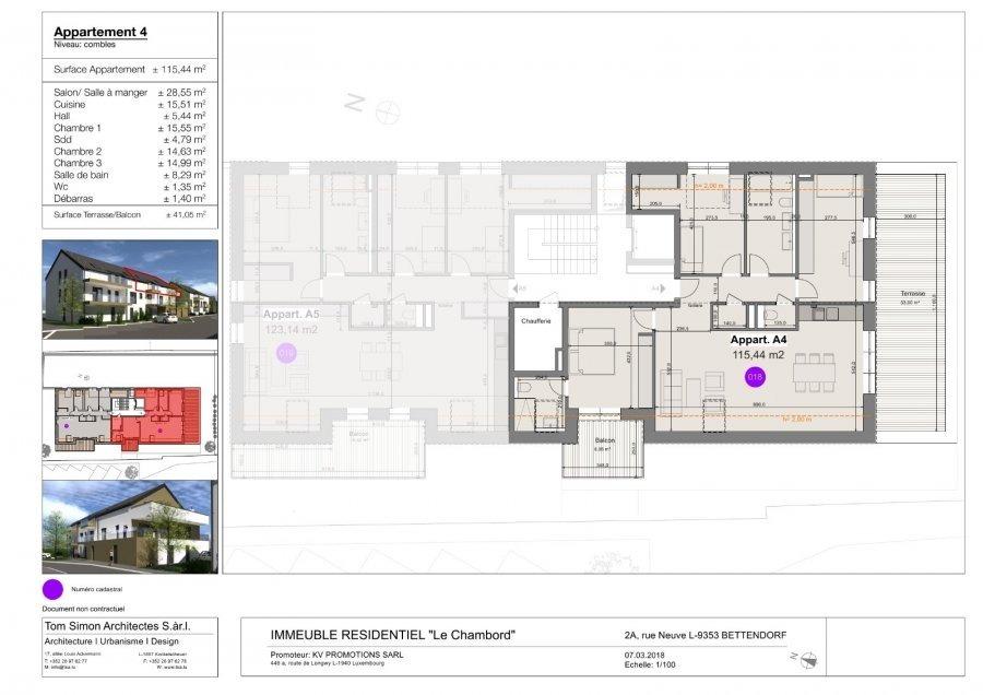 acheter penthouse 3 chambres 127 m² bettendorf photo 2