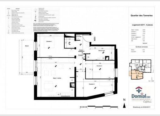 Vente appartement f4 lingolsheim bas rhin r f 5367149 for Location garage lingolsheim