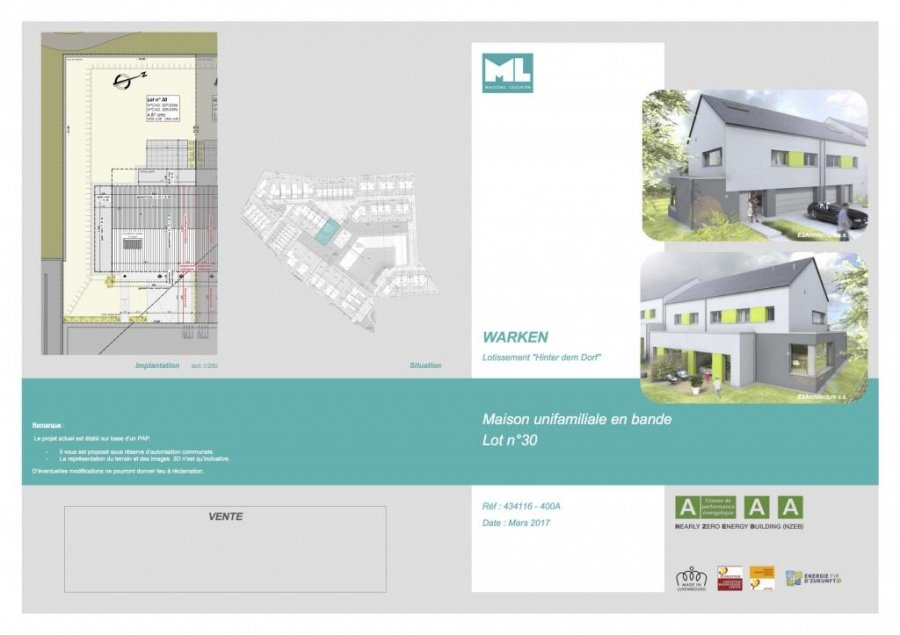 acheter maison individuelle 3 chambres 142 m² warken photo 3