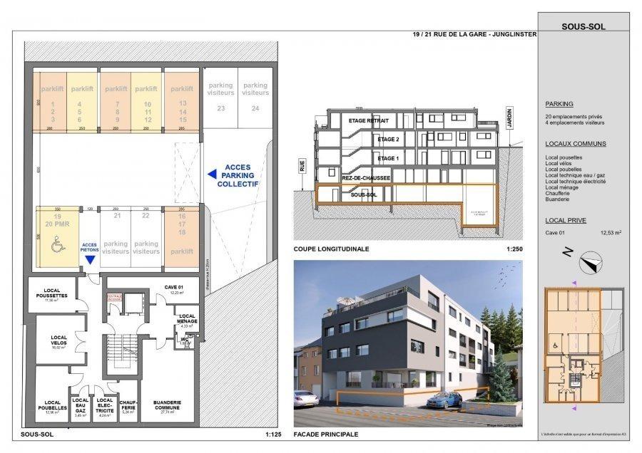 acheter appartement 1 chambre 92.21 m² junglinster photo 6