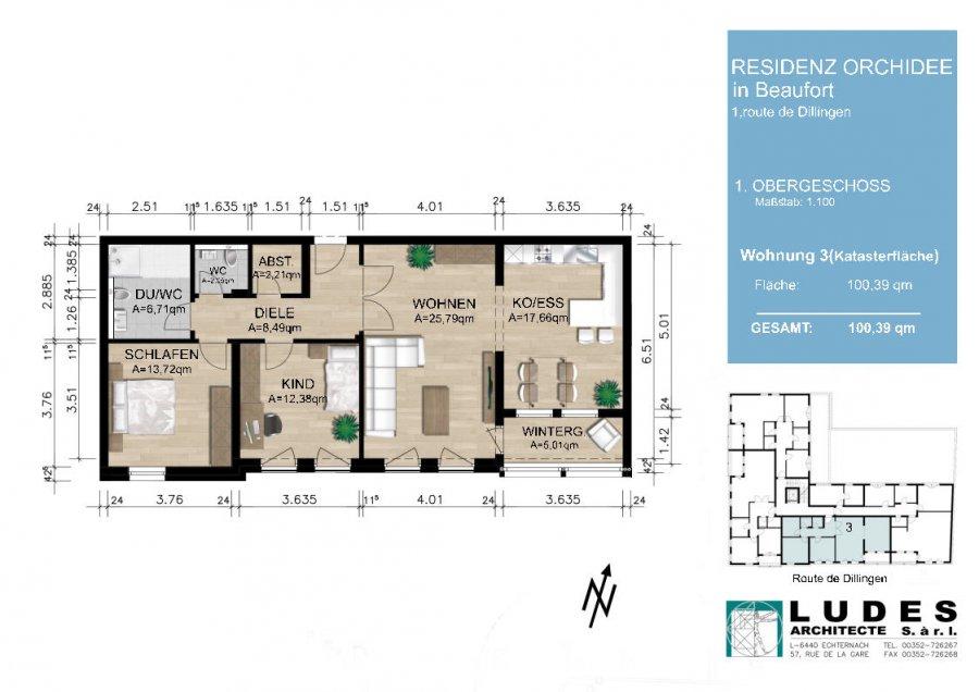 wohnung kaufen 2 schlafzimmer 100.39 m² beaufort foto 2