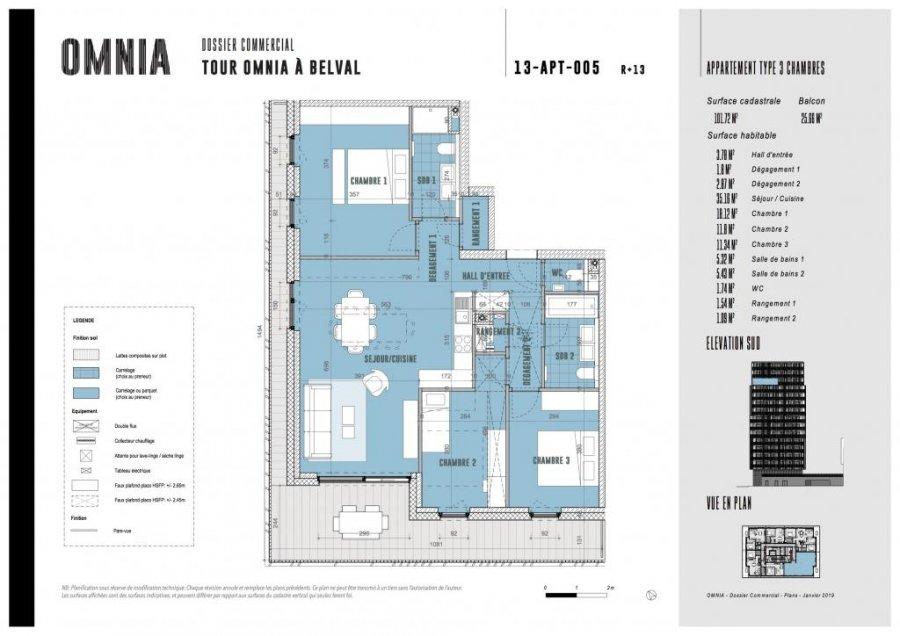 wohnung kaufen 3 schlafzimmer 101.72 m² belval foto 1