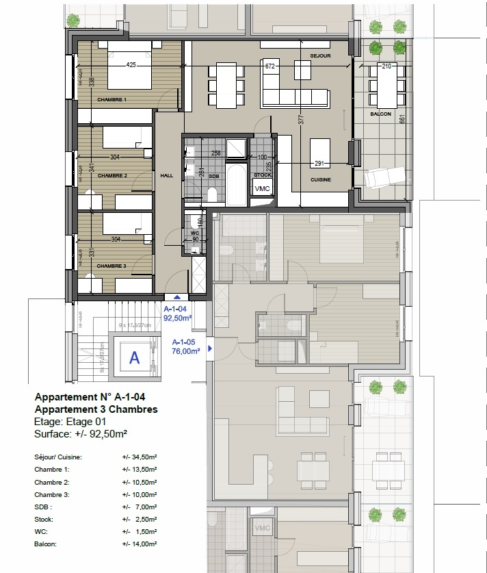 wohnung kaufen 3 schlafzimmer 92.71 m² differdange foto 5