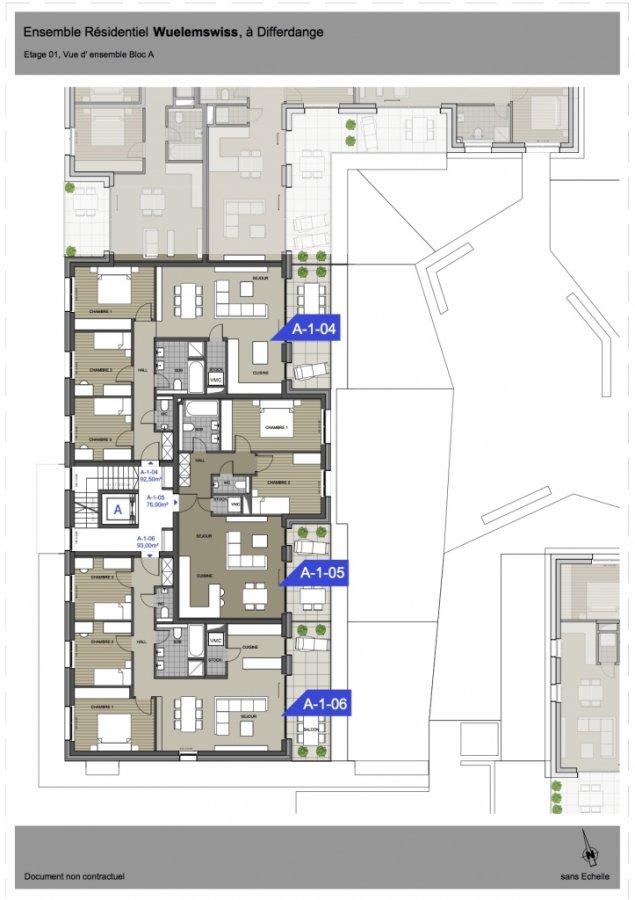 wohnung kaufen 3 schlafzimmer 92.71 m² differdange foto 7
