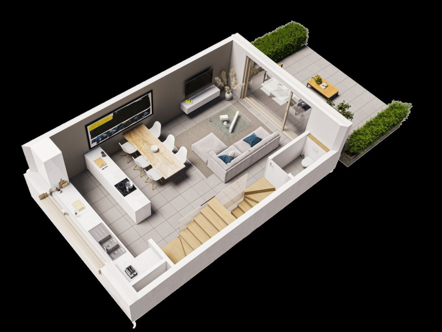 acheter maison jumelée 3 chambres 107.75 m² luxembourg photo 6