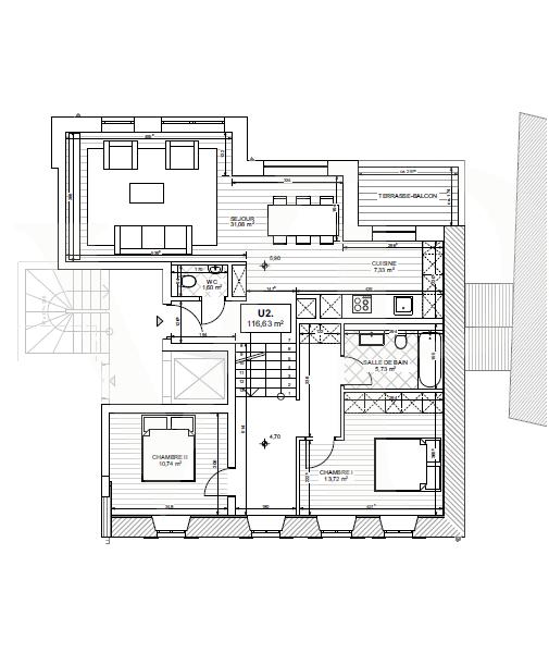 acheter duplex 3 chambres 119 m² useldange photo 3