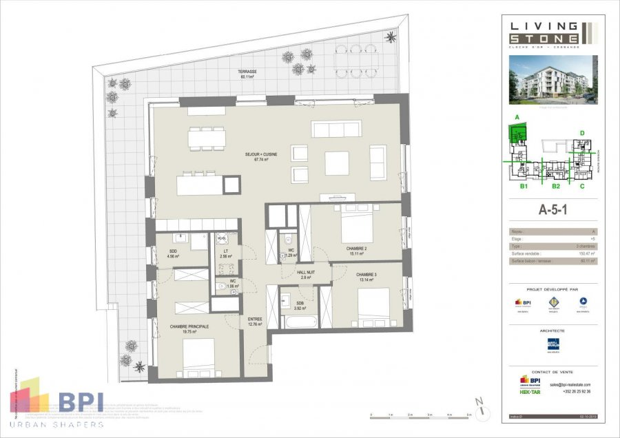 apartment for buy 3 bedrooms 170.5 m² luxembourg photo 2