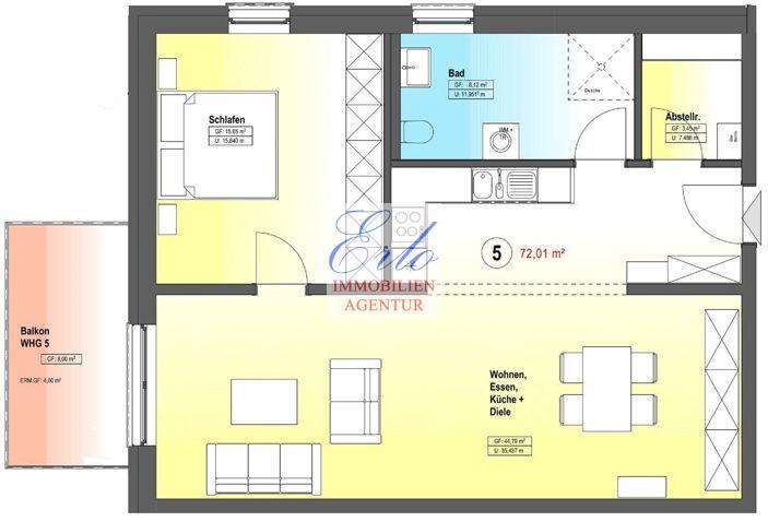 acheter appartement 2 pièces 76.01 m² zerf photo 2