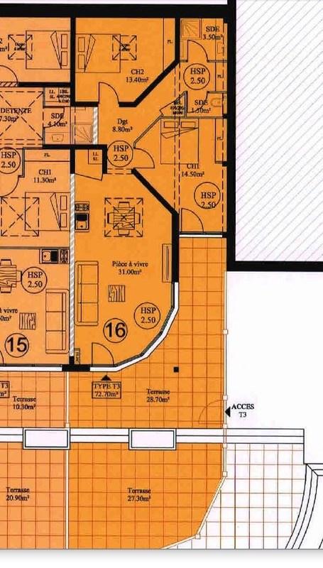 acheter appartement 3 pièces 73 m² la bresse photo 5