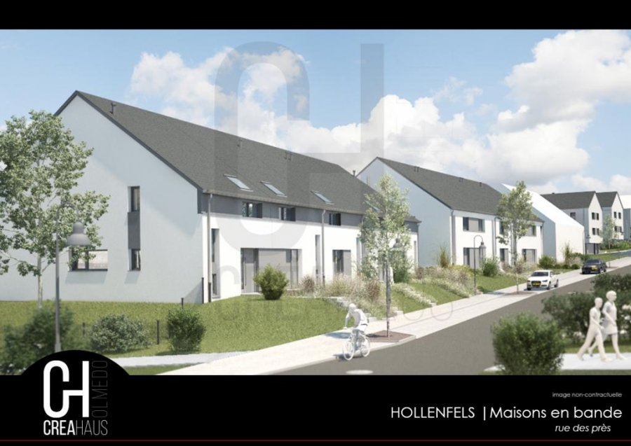 acheter maison mitoyenne 3 chambres 139.96 m² hollenfels photo 3