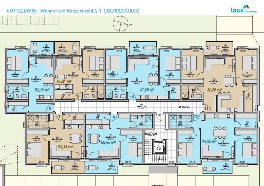 wohnung kaufen 2 zimmer 55.46 m² quierschied foto 7