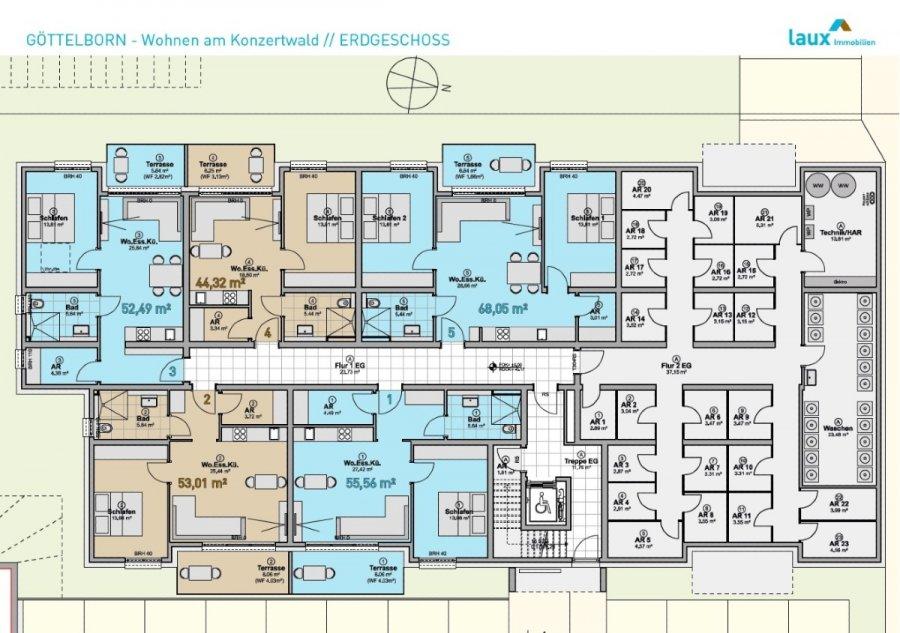 wohnung kaufen 2 zimmer 55.46 m² quierschied foto 6