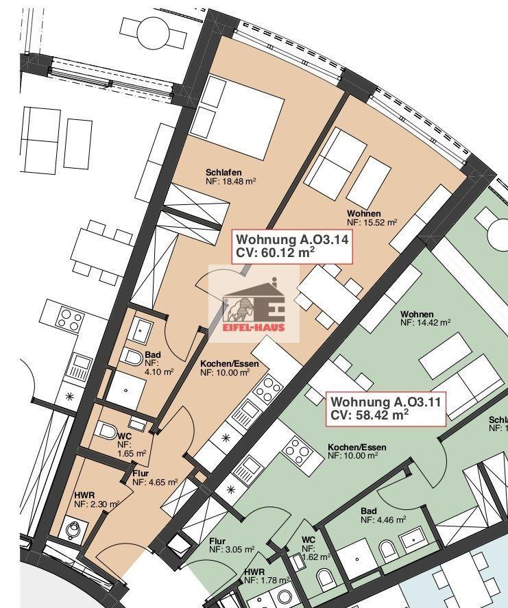 acheter appartement 2 chambres 60.12 m² wasserbillig photo 1