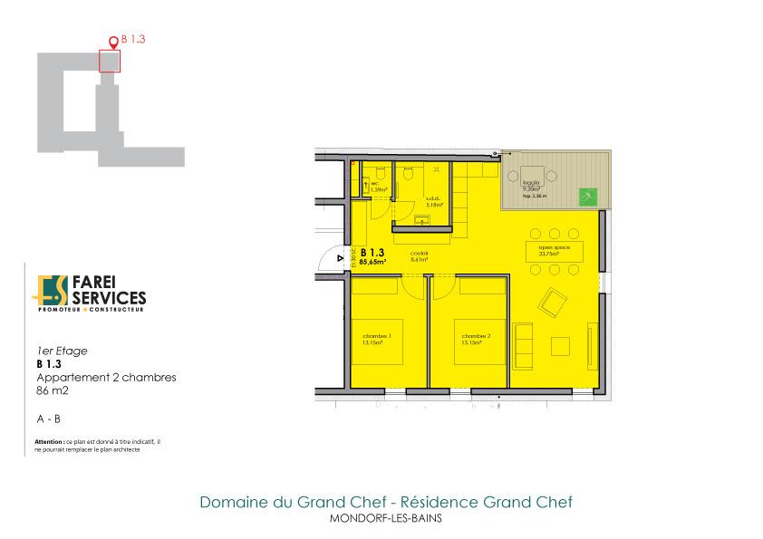 acheter appartement 2 chambres 86 m² mondorf-les-bains photo 2