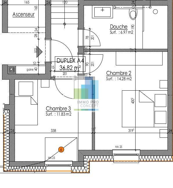 acheter penthouse 3 chambres 144.08 m² frisange photo 3