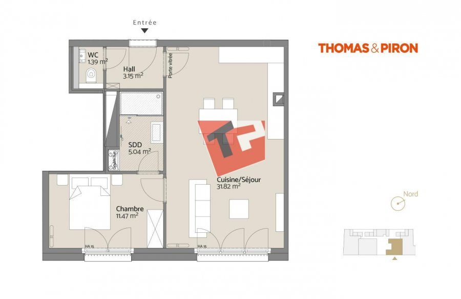 acheter appartement 1 chambre 54.22 m² luxembourg photo 2