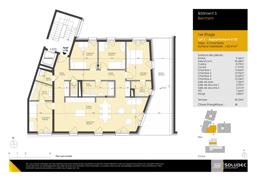 wohnung kaufen 4 schlafzimmer 142.41 m² berchem foto 1