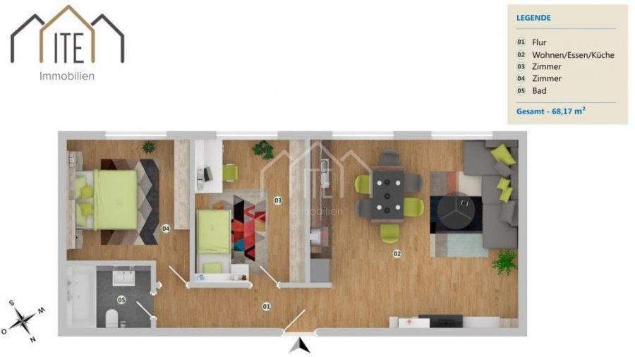 wohnung kaufen 2 schlafzimmer 68.17 m² esch-sur-alzette foto 1