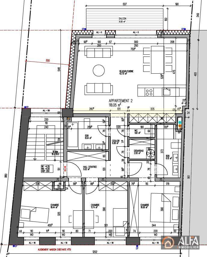 acheter appartement 3 chambres 118 m² rodange photo 3