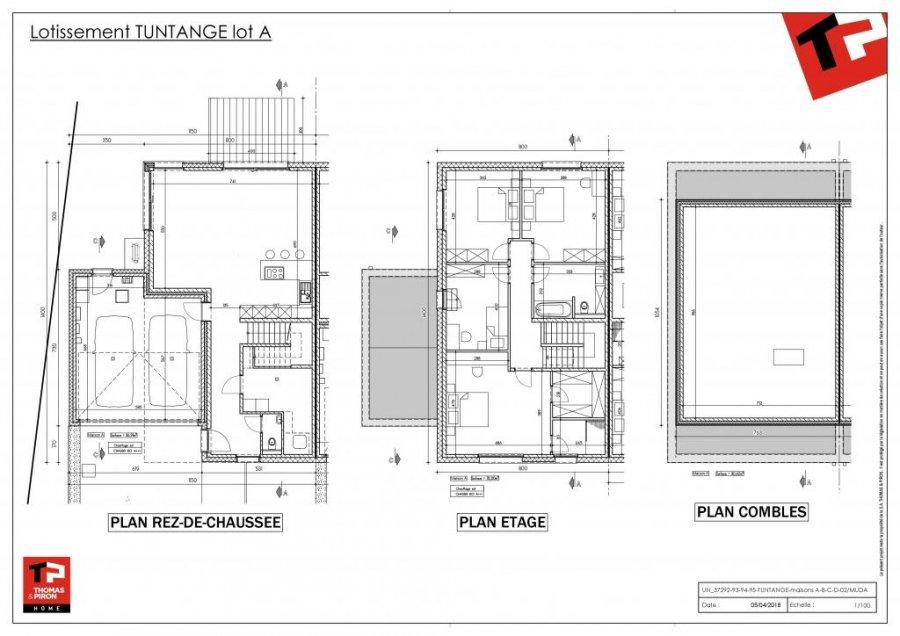 Reihenhaus Kaufen 4 Schlafzimmer 155 M² Tuntange Foto 2