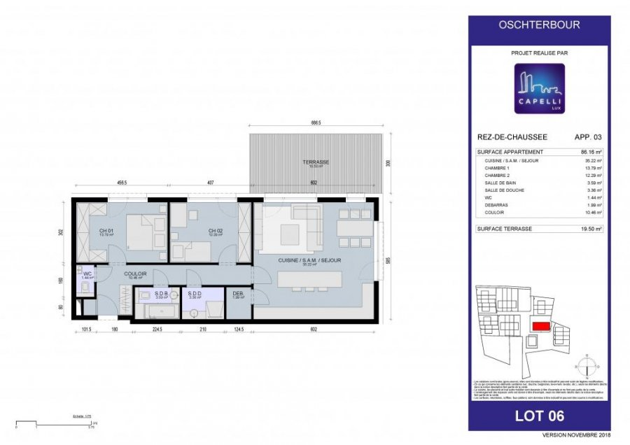 acheter appartement 2 chambres 86.16 m² differdange photo 6