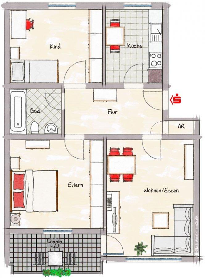 acheter appartement 3 pièces 70 m² konz photo 3