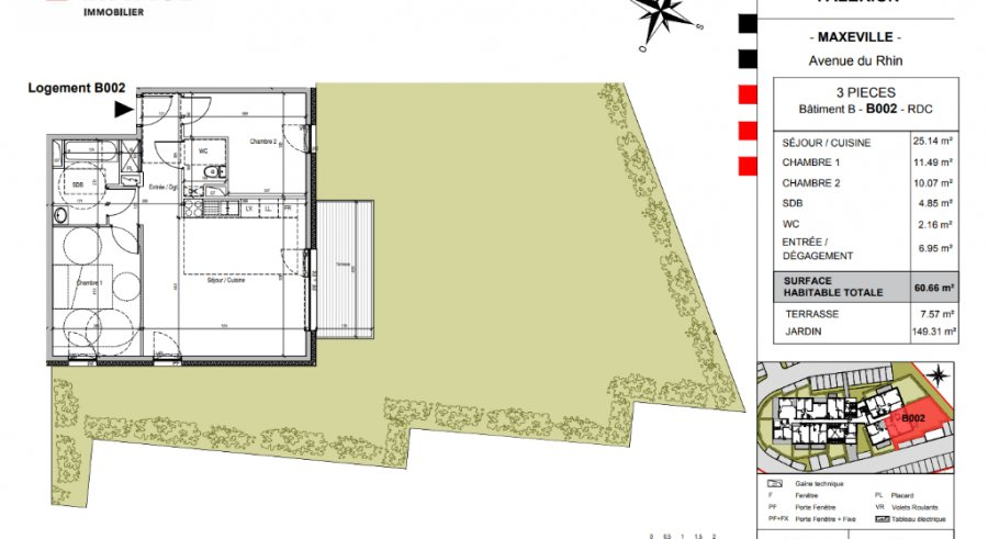 acheter appartement 3 pièces 60.5 m² maxéville photo 3