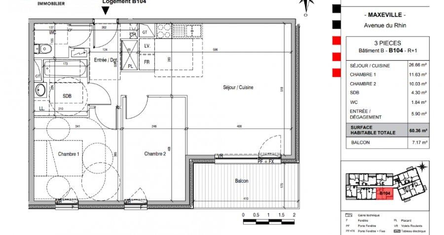 acheter appartement 3 pièces 60.5 m² maxéville photo 5