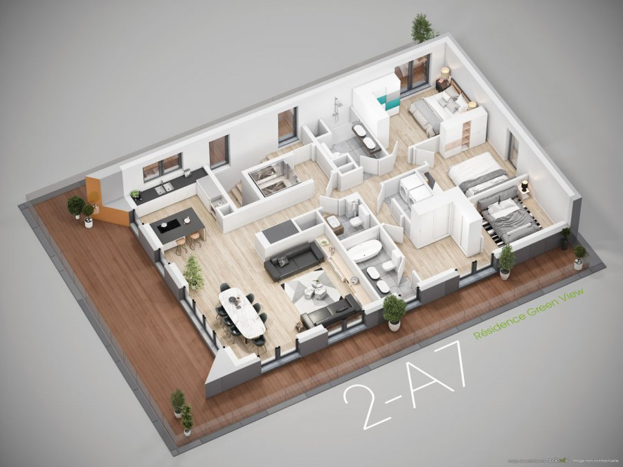 acheter penthouse 3 chambres 182.47 m² bridel photo 1