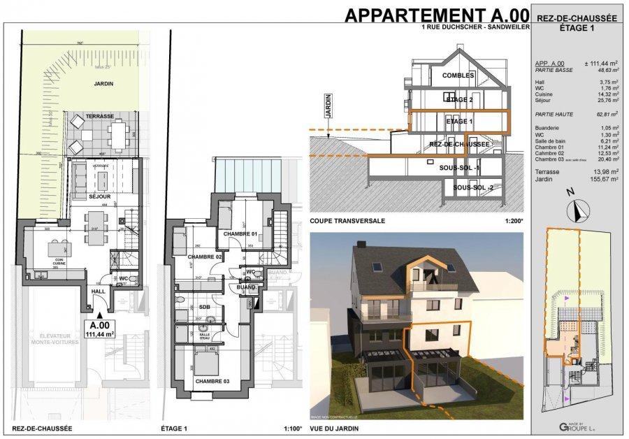 acheter appartement 3 chambres 111 m² sandweiler photo 3